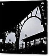 Tiger Stadium Silhouette Acrylic Print by Michelle Calkins