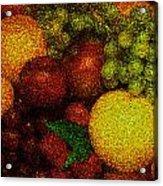 Tiled Fruit  Acrylic Print by Mauro Celotti