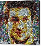 Tim Tebow Mms Mosaic Acrylic Print by Paul Van Scott
