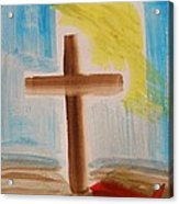 Tim Tebow's Cross-easter Monday Acrylic Print by Mary Carol Williams