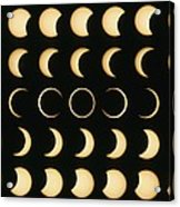 Time-lapse Image Of A Solar Eclipse Acrylic Print by Dr Fred Espenak