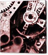 Time Mechanisms Acrylic Print by David Cucalon