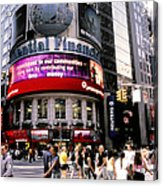 Times Square Corner Acrylic Print by Linda  Parker