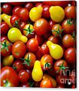 Tomatoes Background Acrylic Print by Carlos Caetano