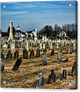 Tombstones Acrylic Print by Paul Ward