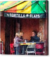 Tortilla Flats Greenwich Village Acrylic Print by Susan Savad