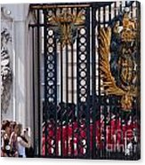 Tourists At Changing Of The Guards Acrylic Print by Andrew  Michael