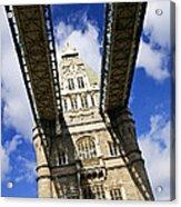 Tower Bridge In London Acrylic Print by Elena Elisseeva