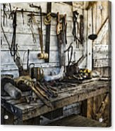 Trade Tools Acrylic Print by Peter Chilelli