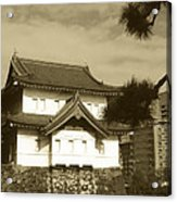 Traditional Building In Tokyo Acrylic Print by Naxart Studio