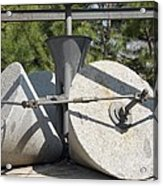 Traditional Olive Millstones, Spain Acrylic Print by Sheila Terry