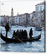 Traghetto . Gran Canal. Venice Acrylic Print by Bernard Jaubert