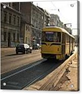 Tramway In The Morning Light Acrylic Print by Frederic Vigne
