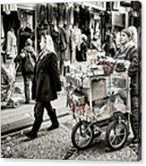 Traveling Vendor Acrylic Print by Joan Carroll
