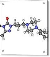 Trazadone Antidepressant Drug Molecule Acrylic Print by Laguna Design