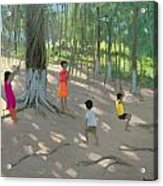 Tree Swing Acrylic Print by Andrew Macara