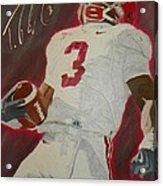Trent Richardson Alabama Crimson Tide Acrylic Print by Ryne St Clair