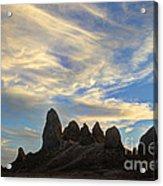 Trona Pinnacles Windswept Acrylic Print by Bob Christopher