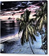 Tropical Evening Acrylic Print by Cheryl Young