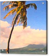 Tropical Island 2 - Painterly Acrylic Print by Wingsdomain Art and Photography