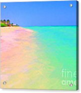 Tropical Island 7 - Painterly Acrylic Print by Wingsdomain Art and Photography