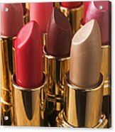 Tubes Of Lipstick Acrylic Print by Garry Gay