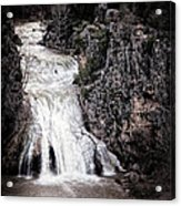 Turner Falls Roar Acrylic Print by Tamyra Ayles