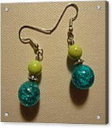 Turquoise And Apple Drop Earrings Acrylic Print by Jenna Green