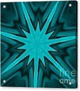 Turquoise Star Acrylic Print by Marsha Heiken