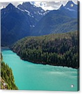 Turquoise Water Of Diablo Lake In The North Cascades Np Acrylic Print by Pierre Leclerc Photography