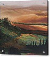 Tuscan Hills Acrylic Print by Elise Okrend