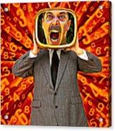 Tv Man Acrylic Print by Garry Gay