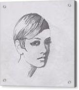 Twiggy Acrylic Print by Marie Hough