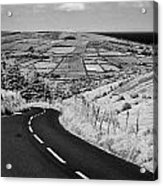 Twisty Country Mountain Road Through Glenaan Scenic Route Glenaan County Antrim  Acrylic Print by Joe Fox