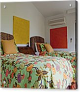 Two Twin Beds Acrylic Print by Inti St. Clair