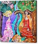 Two Women Acrylic Print by Sandra Kern