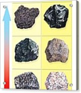 Types Of Volcanic Rock Acrylic Print by Gary Hincks