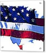 U. S. A. Acrylic Print by ABA Studio Designs