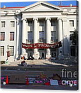 Uc Berkeley . Sproul Hall . Sproul Plaza . Occupy Uc Berkeley . 7d10017 Acrylic Print by Wingsdomain Art and Photography