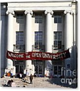 Uc Berkeley . Sproul Hall . Sproul Plaza . Occupy Uc Berkeley . 7d9991 Acrylic Print by Wingsdomain Art and Photography
