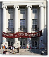 Uc Berkeley . Sproul Hall . Sproul Plaza . Occupy Uc Berkeley . 7d9992 Acrylic Print by Wingsdomain Art and Photography