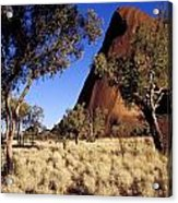 Uluru, Ayres Rock Against A Clear Blue Acrylic Print by Jason Edwards