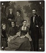 Ulysses S. Grant With His Family When Acrylic Print by Everett