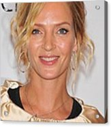 Uma Thurman In Attendance For Friars Acrylic Print by Everett