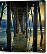 Under The Boardwalk Acrylic Print by Chris Lord