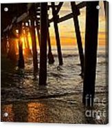 Under The Pier Acrylic Print by Athena Lin