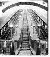 Underground Escalator Acrylic Print by Archive Photos