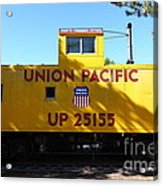 Union Pacific Caboose - 5d19206 Acrylic Print by Wingsdomain Art and Photography