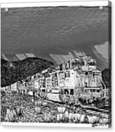 Union Pacific Diesels And Monsoon Acrylic Print by Jack Pumphrey