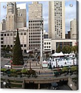 Union Square Sf Acrylic Print by Ron Bissett